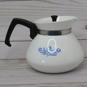 Corning Ware Blue Cornflower 6 Cup Coffee Tea Pot